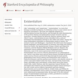 Existentialism (Stanford Encyclopedia of Philosophy)