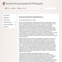 Existentialist Aesthetics