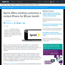 Sprint offers existing customers a rented iPhone for $5 per month