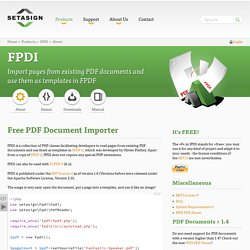 FPDI - Import existing PDF document...