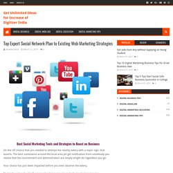 Top Expert Social Network Plan to Existing Web Marketing Strategies