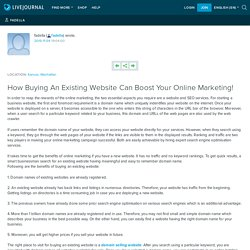 How Buying An Existing Website Can Boost Your Online Marketing! : fadella