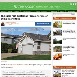The solar roof exists: SunTegra offers solar shingles and tiles