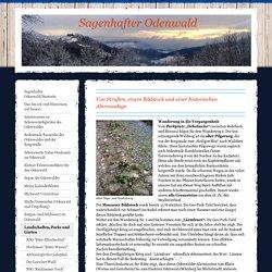 Von Straßen, einem Bildstock und einer historischen Alarmanlage - Odenwald, Exkursionsführer, Ausflugstipps, Bauernregeln,Odenwald-Sagen,Kalenderblätter