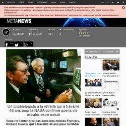 Un Exobiologiste à la retraite qui a travaillé 46 ans pour la NASA confirme que la vie extraterrestre existe