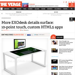 More EXOdesk details surface: 10-point touch, custom HTML5 apps