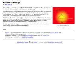 Exoliner QuarterWave Line Design