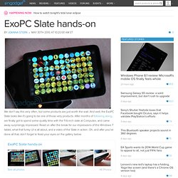 ExoPC Slate hands-on