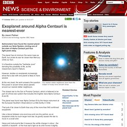 Exoplanet around Alpha Centauri is nearest-ever
