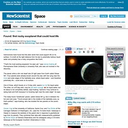 Found: first rocky exoplanet that could host life - space - 29 September 2010