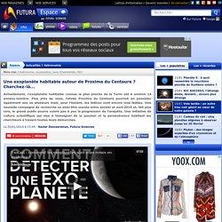 Une exoplanète habitable autour de Proxima du Centaure ? Cherchez-là...