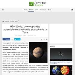 HD 40307g, une exoplanète potentiellement habitable et proche de la Terre
