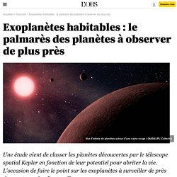 Exoplanètes habitables : le palmarès des planètes à observer de plus près