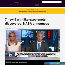 7 new Earth-like exoplanets discovered, NASA announces