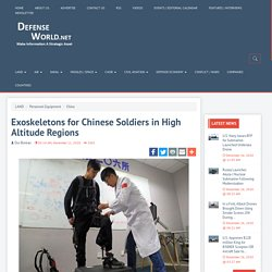 Exoskeletons for Chinese Soldiers in High Altitude Regions