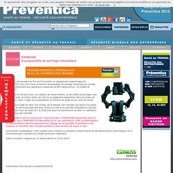 EXHAUSS - Exosquelette de portage mécanique - Sécurité de la production et de la logistique