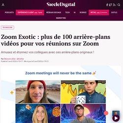Zoom Exotic : plus de 100 arrière-plans vidéos pour vos réunions sur Zoom