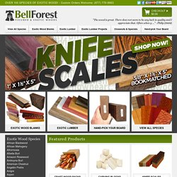 Exotic Wood, Birdseye Maple, Curly Maple & Tiger Maple | Bell Forest Products