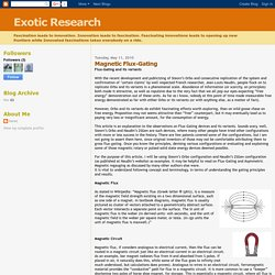 Exotic Research: Magnetic Flux-Gating