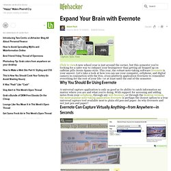 Expand Your Brain with Evernote