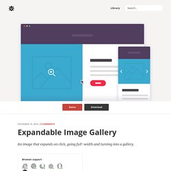 Expandable Image Gallery in CSS and jQuery