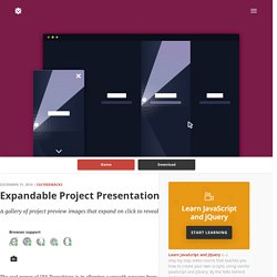 Expandable Project Presentation in CSS and jQuery