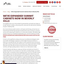 We've Expanded! Summit Cabinets Now In Beverly Hills