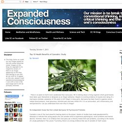 Top 10 Health Benefits of Cannabis: Study
