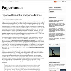 Expanded bumholes, unexpanded minds