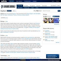 Hydran - Star Trek Expanded Universe - Fan fiction, RPG, fan films