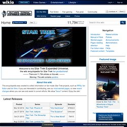 Star Trek Expanded Universe - Fan fiction, RPG, fan films