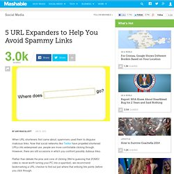 5 URL Expanders to Help You Avoid Spammy Links