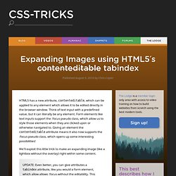 Expanding Images using HTML5′s contenteditable tabindex