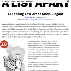 Expanding Text Areas Made Elegant