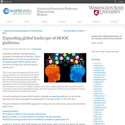 Expanding global landscape of MOOC platforms