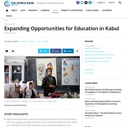 Expanding Opportunities for Education in Kabul