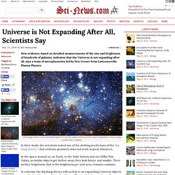Universe is Not Expanding After All, Scientists Say