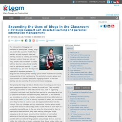 Expanding the Uses of Blogs in the Classroom