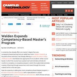 Walden Expands Competency-Based Master's Program