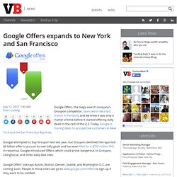 Google Offers expands to New York and San Francisco