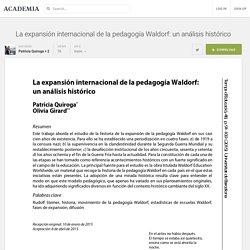 La expansión internacional de la pedagogía Waldorf: un análisis histórico