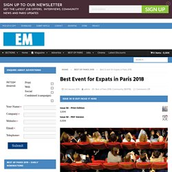 Best Event for Expats in Paris 2018 - Expatriates Magazine Paris