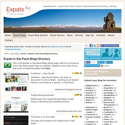 Expats In São Paulo Blogs Directory at Expats Blog