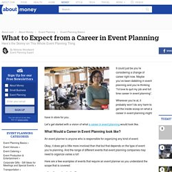 What to Expect from a Career in Event Planning