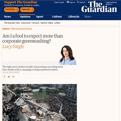 Am I a fool to expect more than corporate greenwashing?