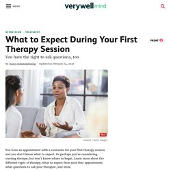 Moving forward: If you choose therapy, here's what to expect.