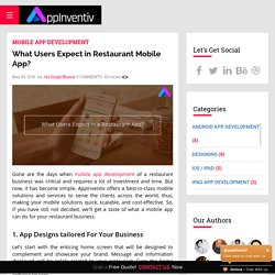 What Users Expect in Restaurant Mobile App? - AppInventiv