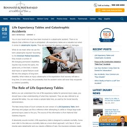 Life Expectancy Tables & Catastrophic Accidents
