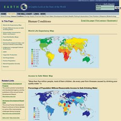 Life Expectancy, Food and Hunger, Access to Safe Water, AIDS, Population, and Human Conditions - Earth Web Site