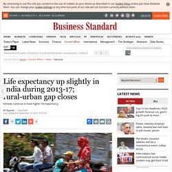 Life expectancy up slightly in India during 2013-17; rural-urban gap closes